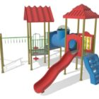 Playground Wonkey Bars Slides