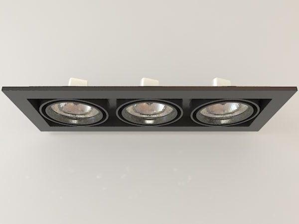 リビングルームのマルチスポット照明器具