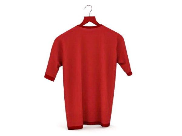 أزياء الرجل الأحمر تي شيرت