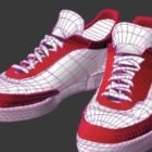 Fashion Red And White Basketball Shoes
