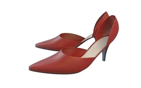 Zapatos de vestir rojos de moda