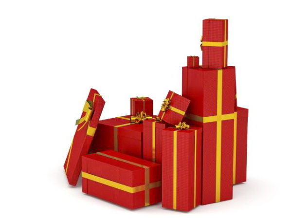 Christmas Red Gift Boxes