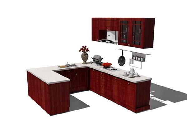 U Cornet Red White Kitchen Cabinets Free 3d Model Max Vray Open3dmodel 186264,Imagine Fashion Designer New York Ds