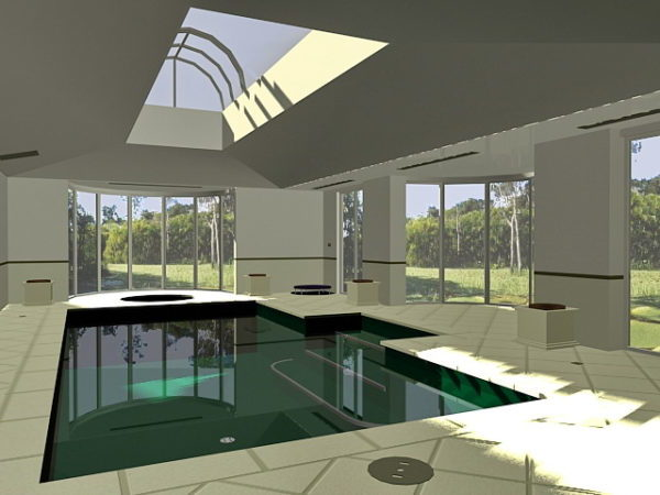 Luxury Residential Indoor Swimming Pool Free 3d Model Max Vray Open3dmodel 189229