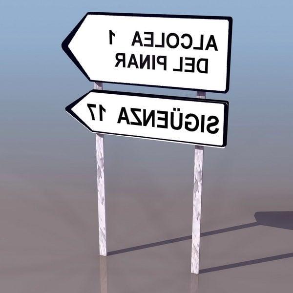Señal de carretera direccional