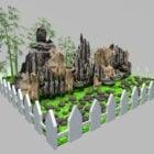 Garden Rockery Landscape