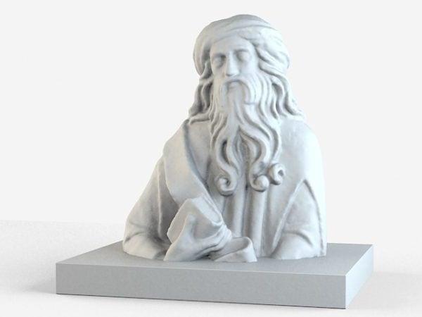 Estatua romana de piedra del busto