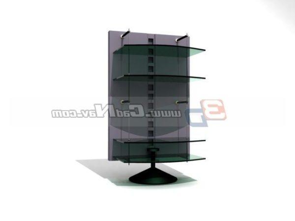 Soporte giratorio de vidrio para muebles