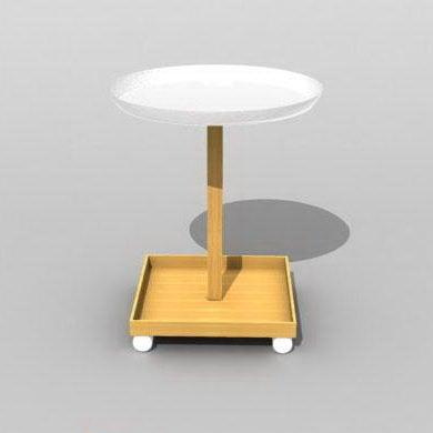 Comprar mesa redonda de madera para exhibición