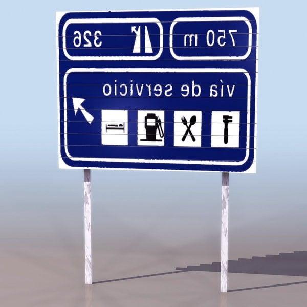 Área de Servicio Señal de Carretera