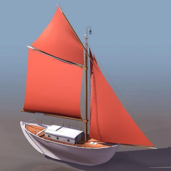 Single Mast Sail Ship
