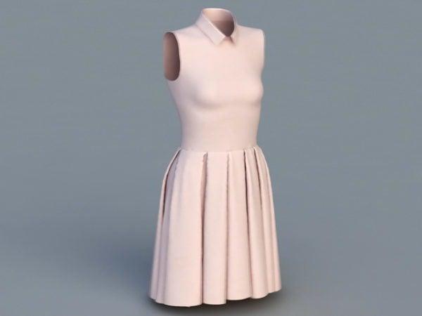 أزياء المرأة بلا أكمام اللباس