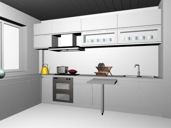 Apartment Small Kitchen Design Free 3d Model Max Vray Open3dmodel 197265