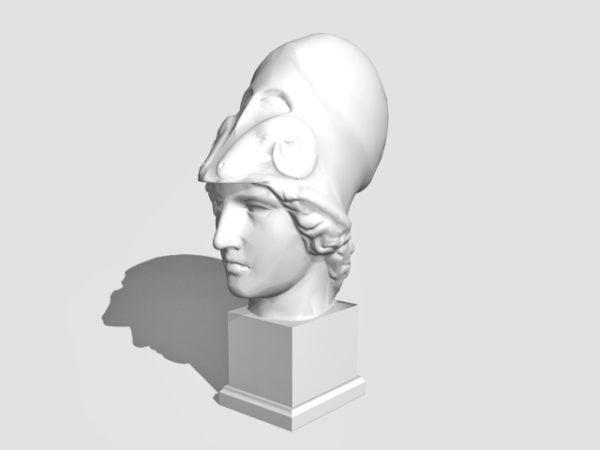 Antigua estatua griega de Atenea
