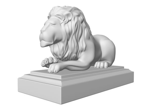 تمثال أسد تصميم