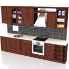 Straight Wooden Kitchen Cabinet