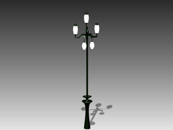 Lampu Jalan Kota Dengan Lampu Model 3d Gratis 3ds Dwg Max Vray Open3dmodel 183851