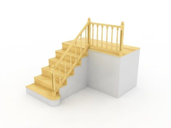 l shape terrace stairs free 3d model max vray open3dmodel 189482 l shape terrace stairs free 3d model