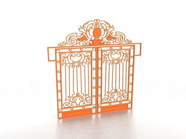 Vintage Wrought Iron Garden Gate Free