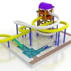 Playground Water Park Tube Slides