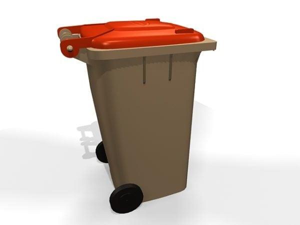 Street Wheelie Bin Waste