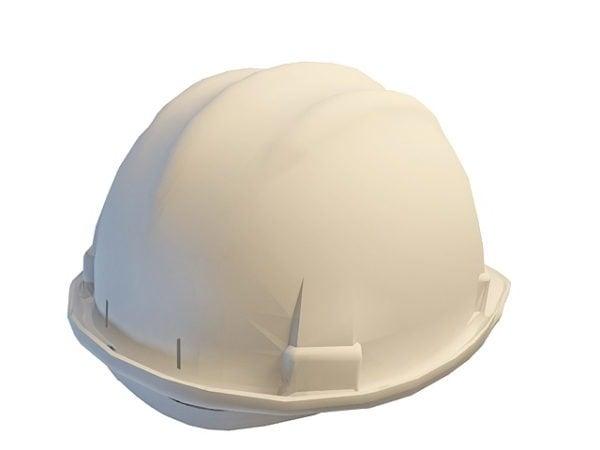 Casco blanco de construcción