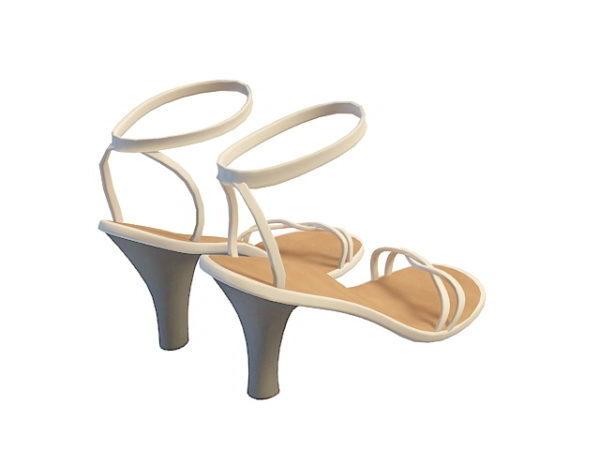 Sandalias blancas de moda para niñas