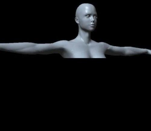Naisen kehon pohjaverkkohahmo