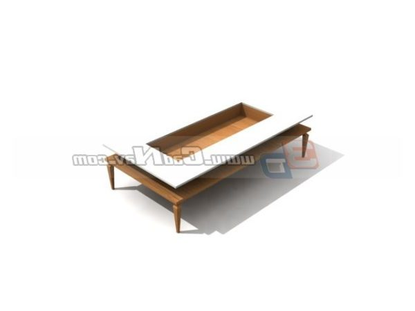 Wood Cube Coffee Table Furniture Free 3d Model 3ds Max Vray Open3dmodel 206072