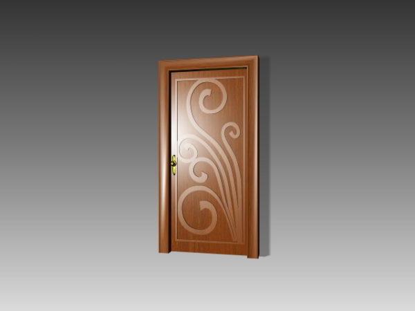 Puerta de madera Muebles Flor Pintura