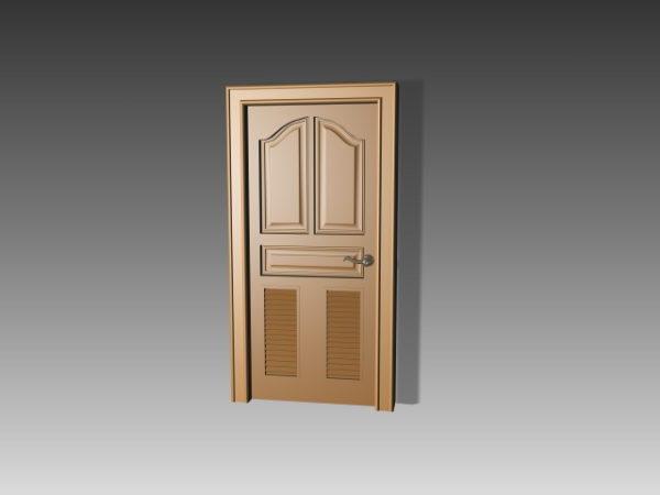 Insertos de persiana de diseño de puerta de panel de madera