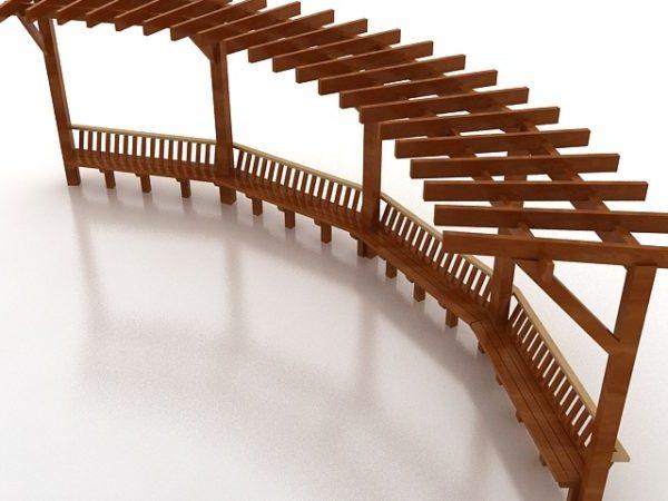 Garden Wooden Pergola Free 3d Model Max Vray Open3dmodel 186753