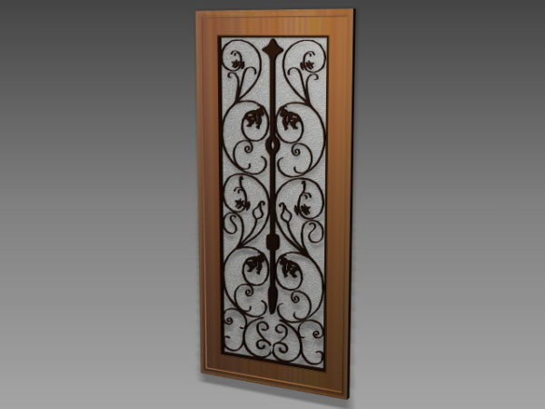 Puerta decorativa de hierro forjado