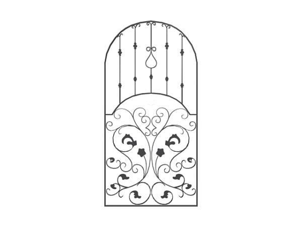 Puerta de hierro forjado de diseño para el hogar