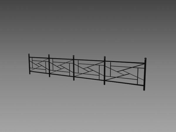 Home Wrought Iron Fencing Design Free 3d Model 3ds Dwg Max Vray Open3dmodel 209237