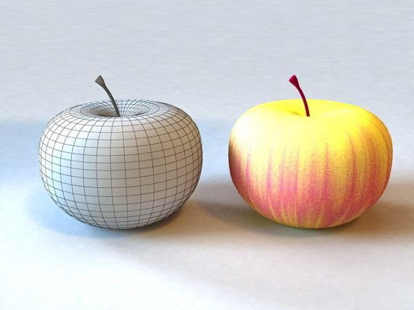 Realistic Yellow Apple