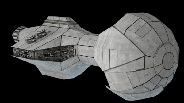 الخيال العلمي تصميم سفينة الفضاء