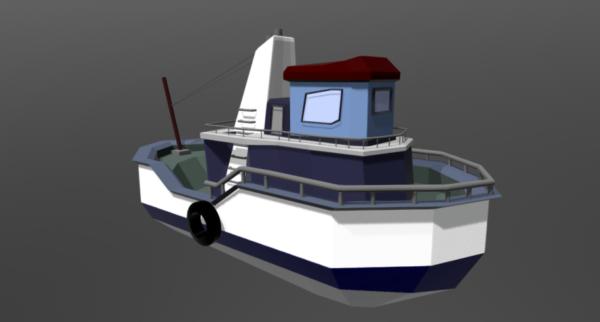 Lowpoly سفينة