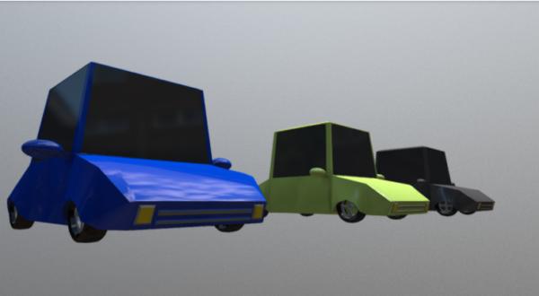 Dibujos animados Lowpoly Autos