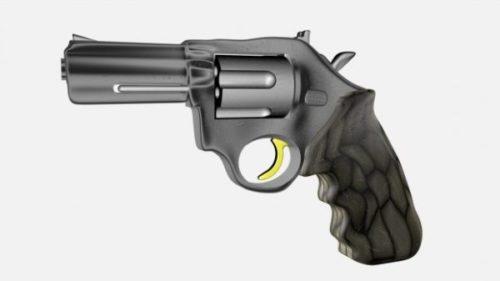 Aseen pieni revolveripistooli