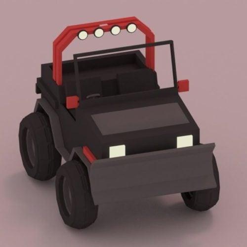 Lowpoly Diseño de coche negro
