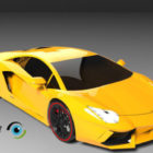 Yellow Lamborghini Aventador Car Design