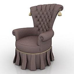 Vanhan harmaan nojatuolin suunnittelu