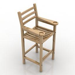 Design de cadeira alta de madeira