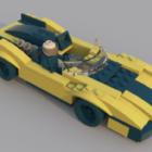 الأصفر ليغو سباق السيارات