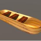 木製の行ボートのモダンなスタイル