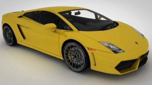 Yellow Paint Lamborghini Gallardo Car Free 3d Model C4d