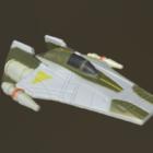 A - الجناح الخيال العلمي تصميم سفينة الفضاء