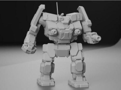 Aws Battletech Robot Character Sculpt