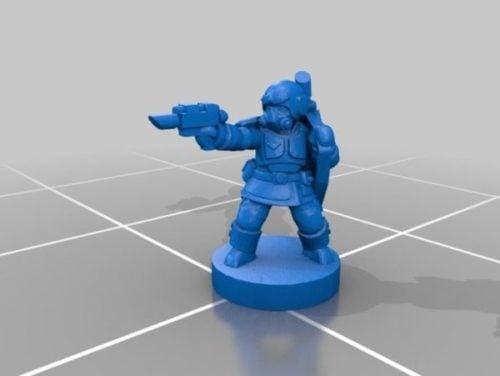 Shocktrooper acadiano com arma